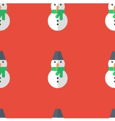 Snowman seamless pattern background vector image