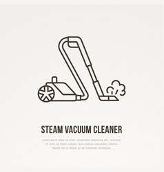 Steam vacuum cleaner flat line icon logo vector