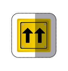 sticker yellow square shape frame same direction vector image