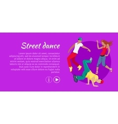 Street Dance Concept Flat Style Web Banner vector