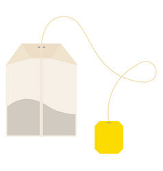 Teabag label vector