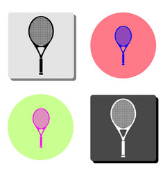 tennis racket flat icon vector image