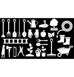 Tools for gardening work vector