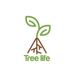tree life logo design inspiration vector image
