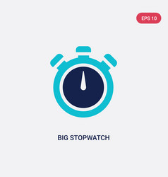 Two color big stopwatch icon from gym and fitness vector