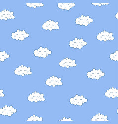unusual seamless pattern with cute sleeping vector image