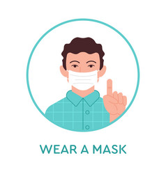 Wear a mask icon vector