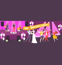 wedding party vector image