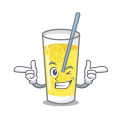 Wink lemonade character cartoon style vector