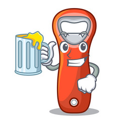 With juice plastic bottle opener isolated on vector