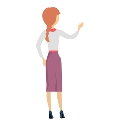 Woman Character in Flat Design vector