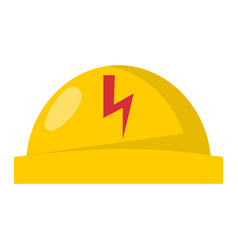 Yellow plastic helmet or construction safety hard vector
