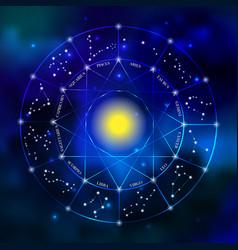 Zodiac constellation set vector image