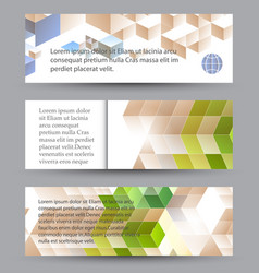 abstract web banner vector image vector image