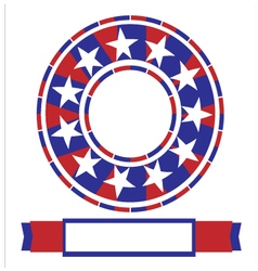 Banner American vector image