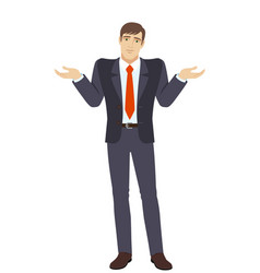 businessman with an i dont know gesture vector image