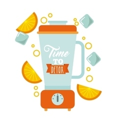 Detox blender icon smoothie and juice design vector