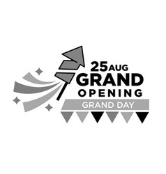 invitation to grand opening ceremony on 25 august vector image