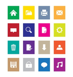 Multi color web icons vector image