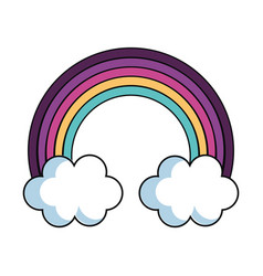rainbow sky isolated vector image vector image