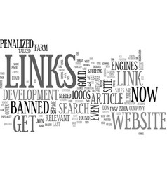 why links count the power of links part two text vector image vector image