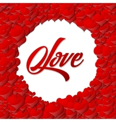 background with beautiful hearts vector image