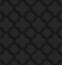 Black textured plastic rounded squares grid vector image