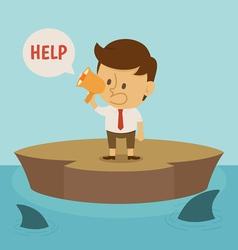 Businessman crisis vector image vector image