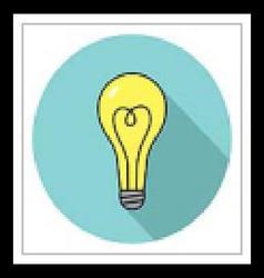 Colored lamp icon vector image