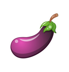 eggplant icon cartoon vector image