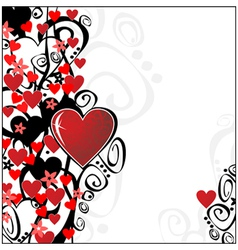 floral valentine ornament for your design you can vector image vector image