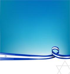 isdrael flag vector image