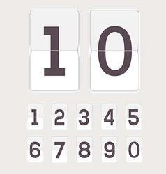 Set of figures on a mechanical scoreboard vector image