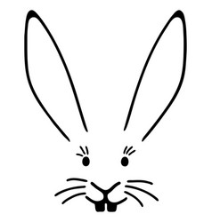 a typical easter bunny face with big ears vector image