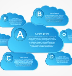 cloud Infographic vector image
