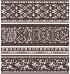 fashion floral scroll pattern vector image vector image