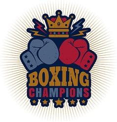 Kings boxing dark blue vector