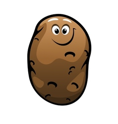 Smiling cartoon farm potato vegetable vector image vector image