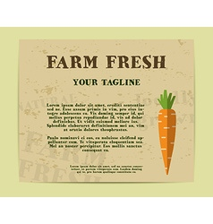 Stylish Farm Fresh poster template or brochure vector image vector image