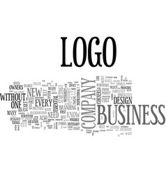 Why logos are a must for every company text word vector