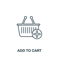 add to cart icon thin line style symbol from vector image