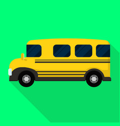 american kid school bus icon flat style vector image