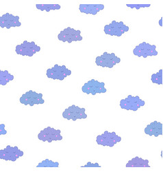 Awesome seamless pattern with cute cartoon vector