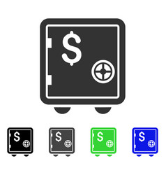 Banking safe icon vector