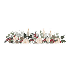basic rgb christmas border with fir branches vector image