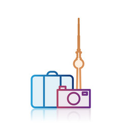 Berlin tourism destination icon vector