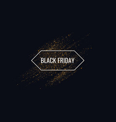 Black friday sale gold glitter shiny particles vector