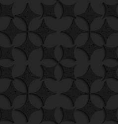 Black textured plastic pointy four foils vector
