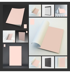 Blank Page Template Lock Screen for Mobile Apps vector