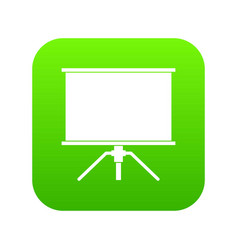 blank projection screen icon digital green vector image